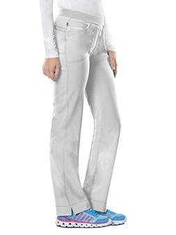 Cherokee Women's Infinity Low Rise Slim Pull-on Pant, White,