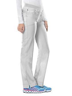 Cherokee Women's Infinity Low Rise Slim Pull-on Pant, White,