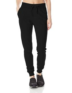 Champion Women's Jersey Pocket Pant, Black . Medium Cuffed D