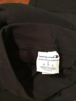 Champion Women's Jersey Pocket Pant Size Small Black