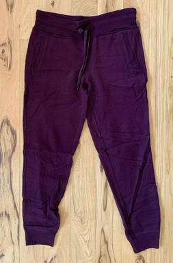CALVIN KLEIN Women's Maroon Joggers Size Medium M Fleece Jog
