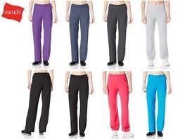 Hanes Women's Petite-Length Middle Rise Sweatpants Open Bott