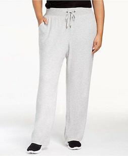 Ideology Women's Plus Size High-Rise Open-Leg Sweatpants Hea
