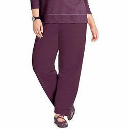 Just My Size Women's Plus-Size Petite Length Open Leg Fleece
