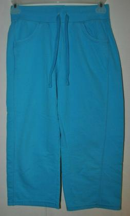 Women's Hanes Small Petite LT. Blue Sweat Pants Soft Sweats