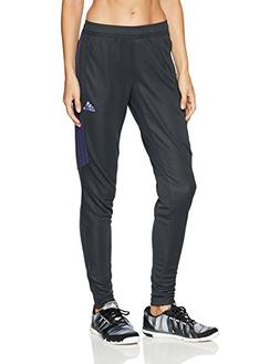adidas Women's Soccer Tiro 17 Training Pants, Carbon/Purple,