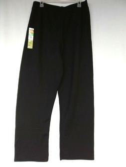Hanes Women's  Sweatpants EcoSmart Open Leg Ladies Black  Si