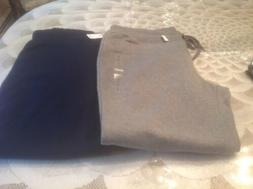 GAP WOMEN'S SWEATPANTS/JOGGERS, SIZE XL, GREY/NAVY, BOTH FOR