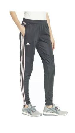 Adidas Women's TIR019 Climacool Sweat Pant Soccer Gray Pink