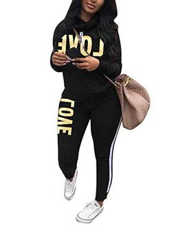 Women's Tracksuit Cowl Neck Long Sleeve Sweatshirt and Sweat