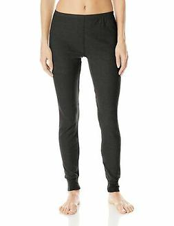 Fruit of the Loom Women's Waffle Thermal Bottoms, Black Soot