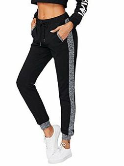 SweatyRocks Women's Yoga Pants,  Jogger Colorblock Casual, T