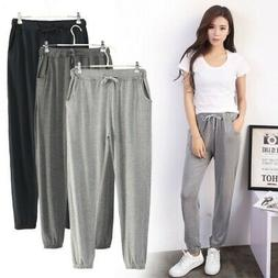 Women Yoga Thin Pants Loose Cotton Sweatpants Casual Sports