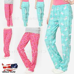 Women Spring Winter Sweatpants Printed Pajama Pants Sleepwea