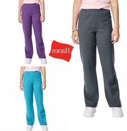 Hanes women sweatpants ComfortSoft EcoSmart Open Bottom Leg