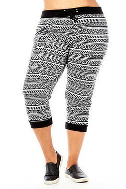 Womens Athletic Run Yoga Fitted capri Joggers Pants Sweatpan
