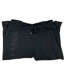 Calvin Klein Performance Womens Black Sweatpants Athletic Pl