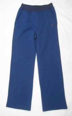 Under Armour Womens Blue Wide Leg Threadborne Fleece Sweatpa