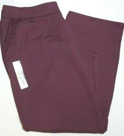 Womens Time and Tru Burgundy Fleece Activewear Bottom Sweatp