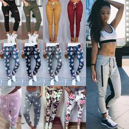 Womens Casual Sweatpants Jogger Dance Harem Pants Sports Bag