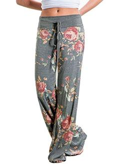 Buauty Womens Cotton Lounge Pants Summer Boho Printed Pajama