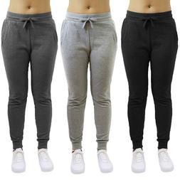 Womens French Terry Jogger Sweatpants Slim-Fit Lounge Gym Sp