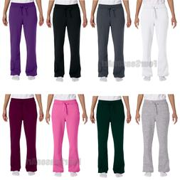 Gildan Womens Heavy Blend Open Bottom Yoga Sweatpants with P