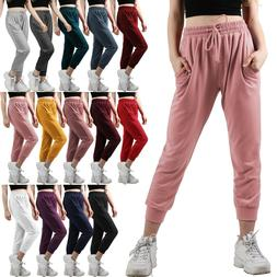 Womens Jogger Pants Sweatpants Lounge wear Drawstring Pocket