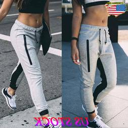 Womens Ladies Joggers Tracksuit Bottoms Trousers Slacks Gym