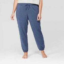 Colsie Women's Plus Size Cozy Fleece Jogger Sweatpants, Na