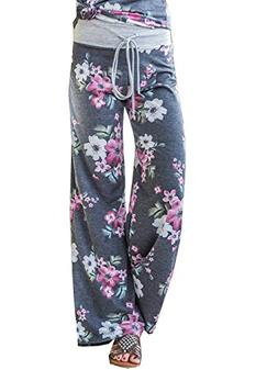 Famulily Womens Plus Size Palazzo Pants Cotton Comfy Sweatpa
