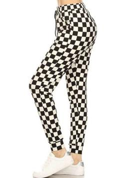 Women's Printed Activewear Joggers Cuffed Hem Sweatpants N
