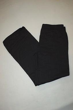 Womens Sweatpants BLACK SWEAT PANTS Straight / Open Leg PETI