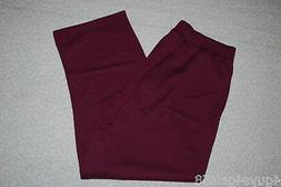 Womens Sweatpants BURGUNDY PURPLE SWEAT PANTS Straight Leg P