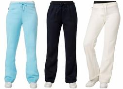 womens sweatpants fleece drawstring juniors flare bottom