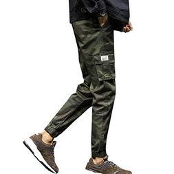 Work Pants for Men,Mens Fashion Camouflage Pocket Nine Point