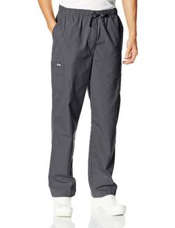 Cherokee Workwear Scrubs Men's Cargo Pant, Pewter, Medium