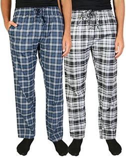 Beverly Hills Polo Club Men\'s Woven Plaid Sleep Lounge Paja