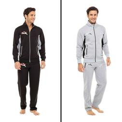 X-2 Mens Athletic Full Zip Fleece Tracksuit Jogging Sweatsui