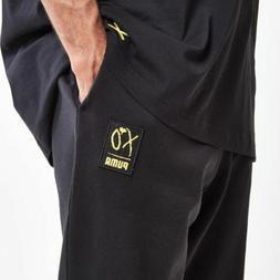 Puma x The Weeknd XO Sweatpants Men's Size XL Black Gold Log