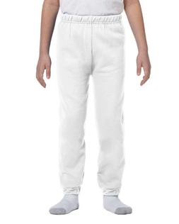 Jerzees Youth 8 oz., 50/50 NuBlend Sweatpants, Large, WHITE