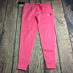 Under Armour Youth Girls XL Track Sweatpants NEW Jogger Pink