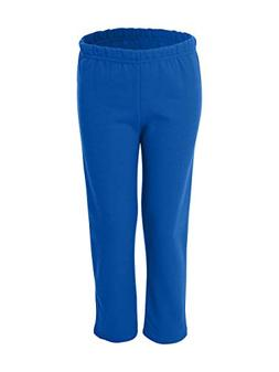 Youth Heavy Blend Open Bottom Sweatpants, Color: Royal, Size