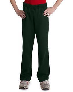 Gildan Youth Heavy BlendOpen Bottom Sweatpants - Forest - XL