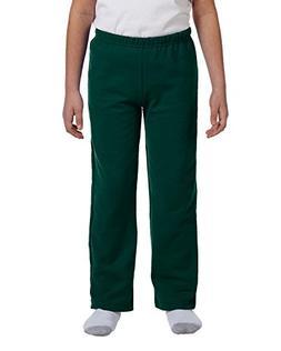 GILDAN Youth Heavy BlendOpen Bottom Sweatpants>L Charcoal 18