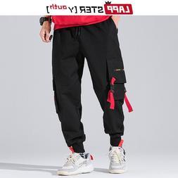 LAPPSTER-Youth Ribbons Streetwear Cargo Pants <font><b>Men</
