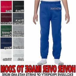 Youth Sweatpants Boys Girls Child Jerzees Elastic Bottom No